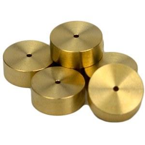 Brass weights (5 g each) for test needles