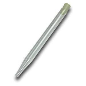 Glass distribution tube